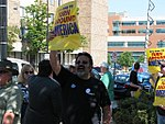 WI Union activists protest outside McCain Town Hall in Racine, July 31, 2008 (2722989722).jpg