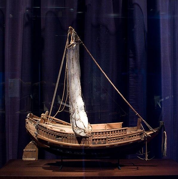 File:WLANL - Pachango - Sieboldhuis - Model van een kustvaarder.jpg