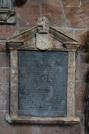 Philemon Holland - Mural tablet to Philemon Holland in Holy Trinity Church, Coventry