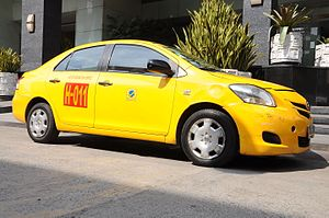 Taxicabs of the Philippines - A Toyota Vios airport taxicab.