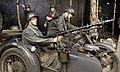 WW2 IN NORWAY Occupying German Army Wehrmacht Uniforms Helmets Raincoats BMW R75 Military motorcycle Sidecar Beiwagen MG 34 machine gun Feldgendarmerie Equipment Weapons Forest scene Mannequins ARQUEBUS Krigshistoriske Museum Tysvær C.jpg