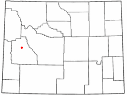 Location of Cora, Wyoming