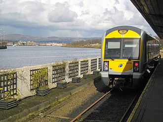 River Foyle - Northern Ireland Railways at Londonderry railway station.
