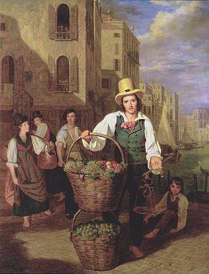 Ferdinand Georg Waldmüller - Image: Waldmüller Venezianischer Obstverkäufer
