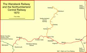 Wansbeck Railway - The Wansbeck Railway and the Rothbury Line