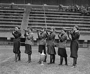 Shooting sports - Girls' rifle team at Central High, Washington, DC. November 1922.