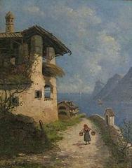Water bearer at Lake Garda