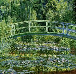 Water Lilies and the Japanese bridge - Claude Monet 1897