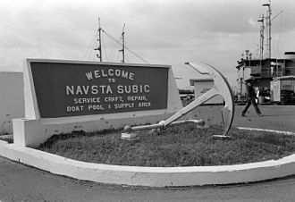 U.S. Naval Base Subic Bay - Welcome sign.