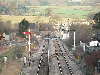 Welsh Marches line - Image: Welsh Marches Line, north of Craven Arms station 02