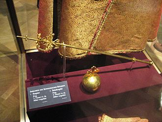 Bohemian Crown Jewels - The original sceptre and orb from 14th century in Vienna