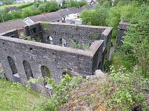 Blaengwrach - Image: Wenallt blast furnace, Blaengwrach