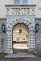 Wernberg Klosterweg 2 ehem. Schloss N-Portal mit Supraporte und Khevenhüller-Brustreliefs 12032015 0777.jpg