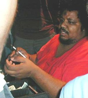 Outsider music - Wesley Willis in 2000.