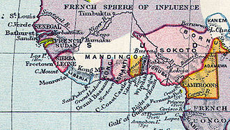 Sokoto - The Sokoto area, crudely shown on an 1897 map