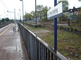 West Ealing railway station - The area of the former milk train bay, 2012. This was converted in 2016 into an extra bay platform for the Greenford branch, as part of the Crossrail project.