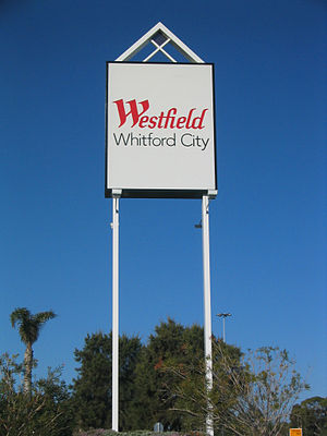 Westfield Whitford City - Image: Westfield Whitford City sign