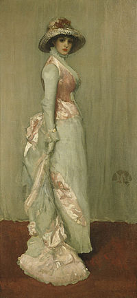James Abbott McNeill Whistler. Harmony in Pink and Grey (Portrait of Lady Meux)