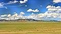 Widoki mongolskiego krajobrazu widziane z minibusa Karakorum - Ułan Bator (17).jpg