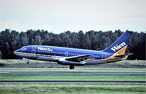 Wien Air Alaska - Boeing 737-200 Combi in 1983
