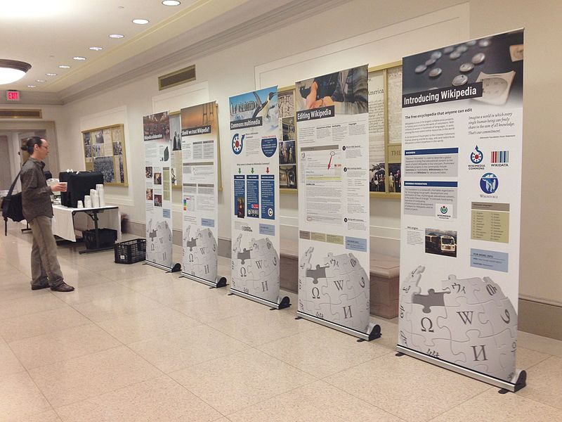Exhibition Booth Wiki : Wikipedia signpost wikiconference