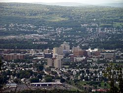 Edwardsville can be seen in the background (behind Wilkes-Barre City).