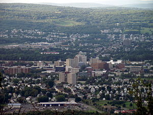 Edwardsville, Pennsylvania - Edwardsville can be seen in the background (behind Wilkes-Barre City).