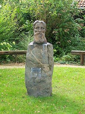 Slavomir Miletić - Bust of painter Willem Jansen (1892-1969) made by Slavomir Miletić in 1963. Placed at the corner of the J.J. Allenstraat and the Watermolenstraat in Westzaan.