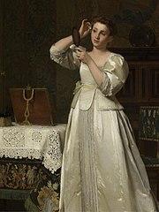 Vrouw met spiegel