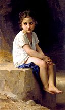 William-Adolphe Bouguereau (1825-1905) - At the Foot of the Cliff (1886).jpg