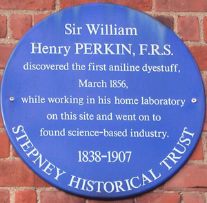 William Henry Perkin - Blue plaque in Cable Street.