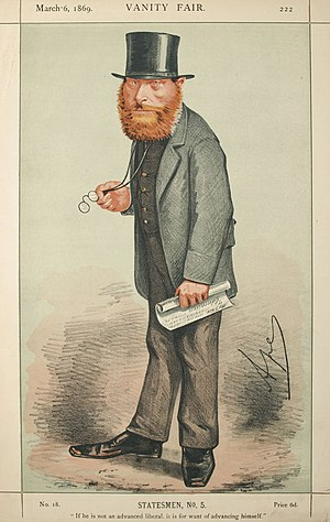 "William Edward Forster - William Edward Forster caricatured by ""Ape"" in Vanity Fair, 1859"