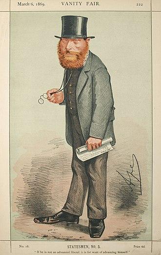 """William Edward Forster - William Edward Forster caricatured by """"Ape"""" in Vanity Fair, 1859"""