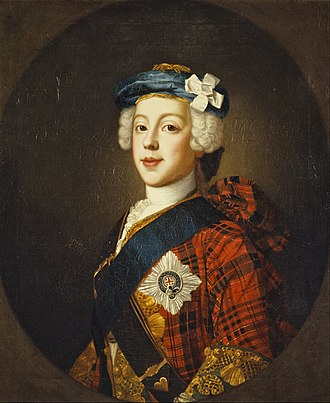 Cockade - Hat with a white cockade (Prince Charles Edward Stuart).