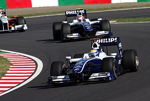 2009 Japanese Grand Prix - Nico Rosberg and Kazuki Nakajima qualified in 11th and 17th places respectively.