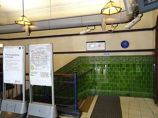 Willie Rushton - Mornington Crescent station plaque (Comic Heritage)