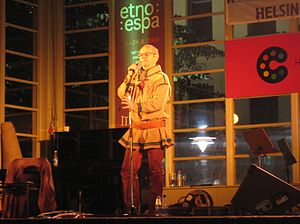 Wimme Saari - Wimme Saari on stage in the park on Esplanadi during Night of the Arts in Helsinki in 2006.