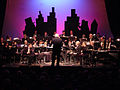 Windjammers with conductor Harry Currie-Sheridan College 13 May 2001.jpg