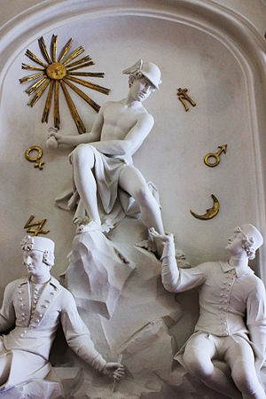The Statue of Hermes - An 18th century Viennese statue of Hermes the wealth-bringer