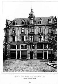 Wohn- und Geschäftshaus Augustinerplatz 12, Köln, Architekt A. Nöcker, Tafel 33, Kick Jahrgang II.jpg