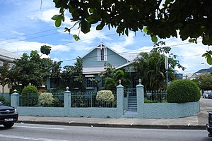 Woodbrook, Port of Spain - A typical Woodbrook gingerbread house 2008