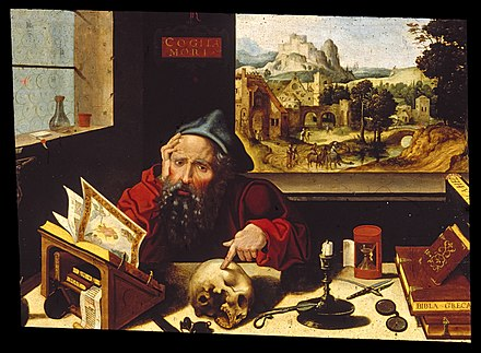 Saint Jerome in his study by Pieter Coecke van Aelst and Workshop, Walters Art Museum Workshop of Pieter Coecke van Aelst, the elder - Saint Jerome in His Study - Walters 37256.jpg