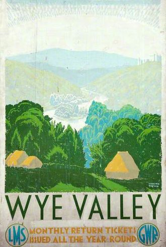 River Wye - A railway poster advertising the Wye Valley as a tourist destination. Date is before 1942.