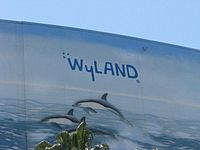 Wyland's signature on Long Beach Arena.