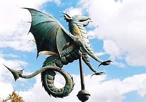 """Monster House (U.S. TV series) - """"Envy, War, Pestilence."""" A wyvern weather vane that appeared in the Viking House episode"""