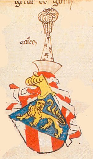 House of Gorizia - Coat of arms of the Counts of Görz, Ingeram Codex of Archduke Albert VI of Austria, 1459