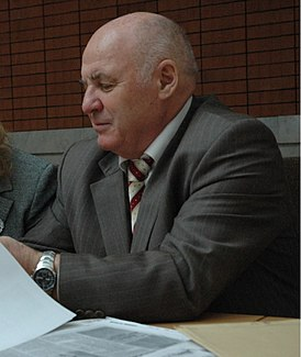 Y.E. Pivinsky at the International conference on refractories, Moscow, 2006.jpg