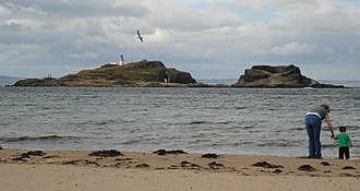 Treasure Island - View of Fidra from Yellowcraigs