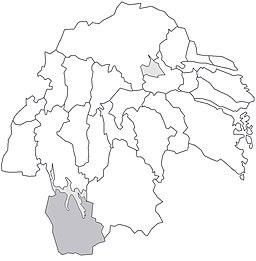 Ydre herreders beliggenhed i Östergötland.