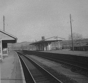 Yeoford railway station - Yeoford station on 14 July 1969